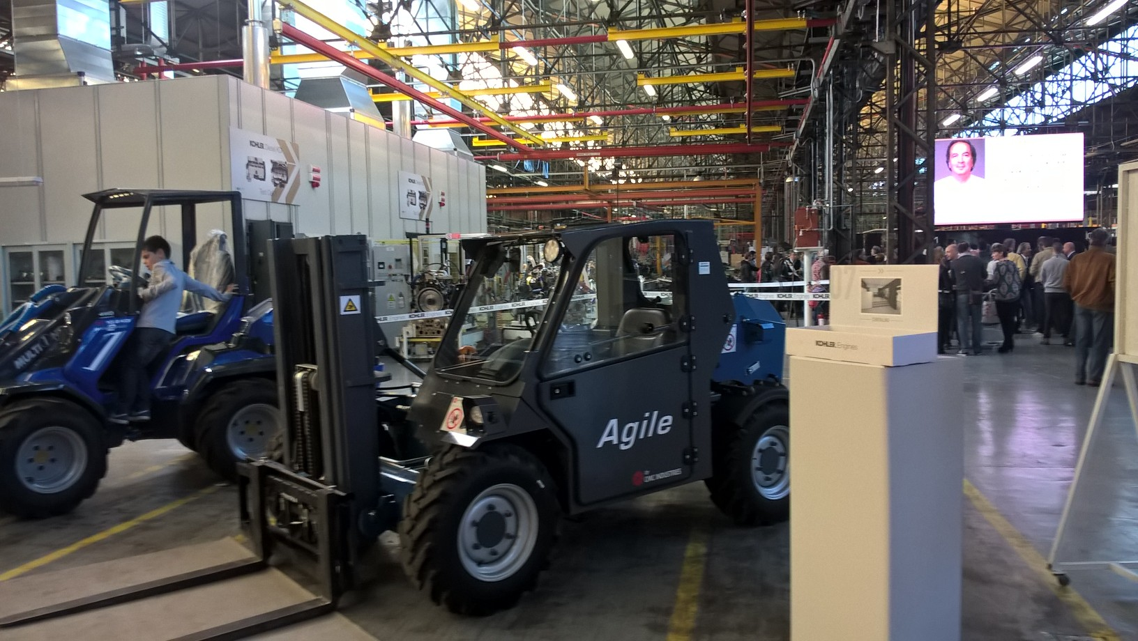 CMC Agile forklift exhibited on the Open Day of Kohler Engines